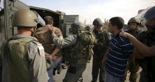 25 Palestinesi rapiti dalle forze di occupazione in Cisgiordania e Gerusalemme