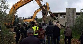 Le IOF demoliscono una casa e abbattono ulivi a Salfit