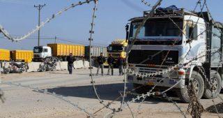 Israele vieta l'ingresso di merci a Gaza