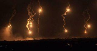 Flare israeliani causano incendio nel sud del Libano