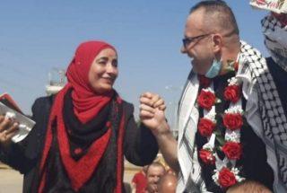 Prigioniero palestinese riabbraccia la moglie dopo 18 anni di carcere