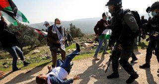 IOF reprimono manifestazione pacifica a Salfit