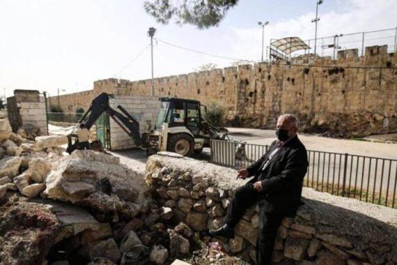 L'IOA riprende la distruzione del cimitero musulmano di Yusufiya a Gerusalemme