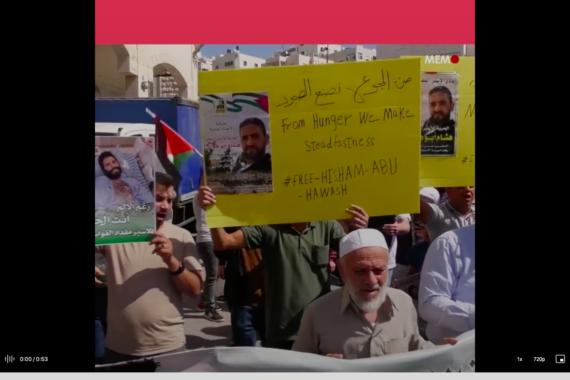 I palestinesi stanno con i prigionieri in sciopero della fame