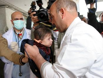 Neonati a Gaza con gravi malformazioni.