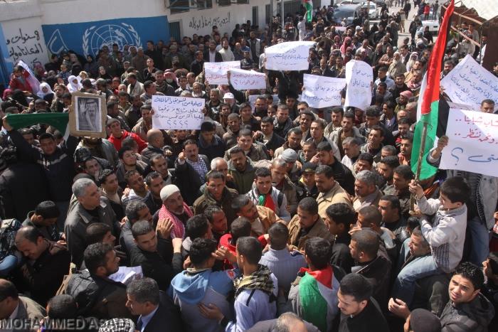 Sit-in degli sfollati di Gaza: 'Dove sono le nostre case?