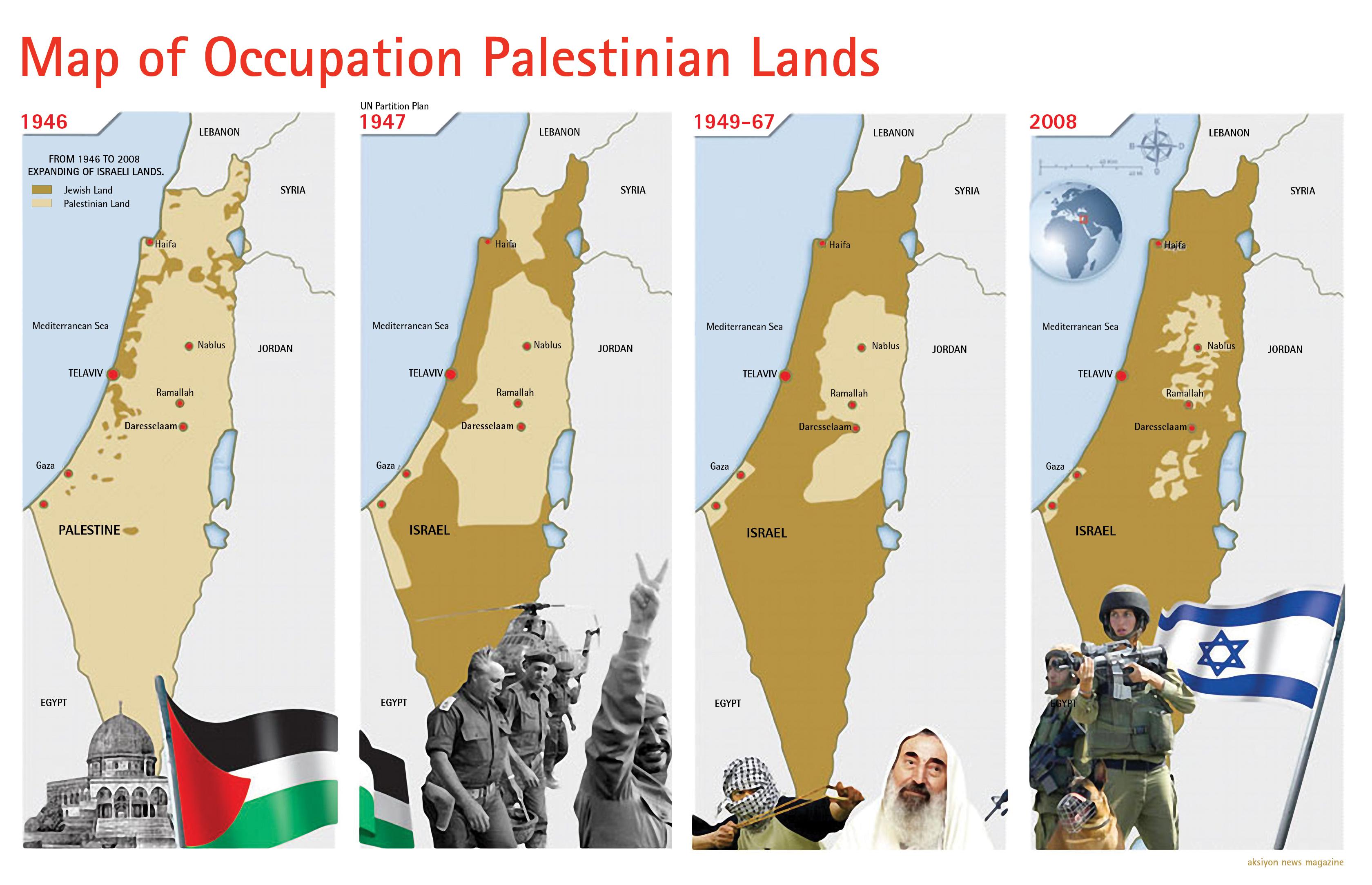 A 63 anni dalla Nakba, Israele controlla l'85% della Palestina storica