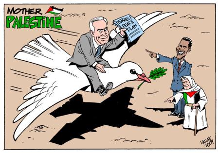 La pace di Netanyahu: confini di 'eventuale' Stato palestinese militarizzati in modo permanente.