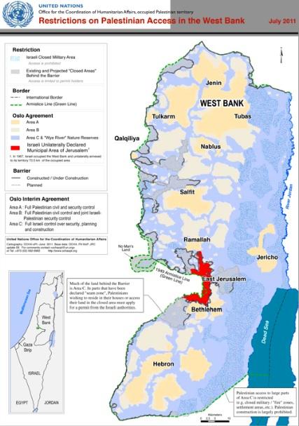 Ocha: 'La vita dei palestinesi che risiedono nell'Area C è diventata una lotta'