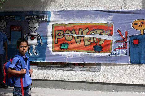 Il 26% dei bambini palestinesi vive nella povertà. Il 45% vive in una famiglia di profughi