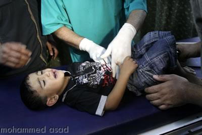 Striscia di Gaza sotto le bombe israeliane.