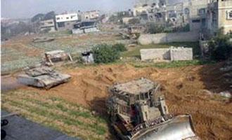 Incursione israeliana a est di Gaza City. Distrutti terreni e fabbriche
