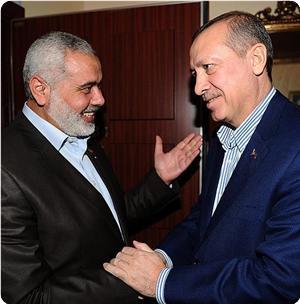 E' un benvenuto caloroso quello di Erdoğan al premier Haniyah