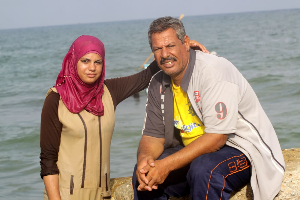 Madeleine, la pescatrice di Gaza.