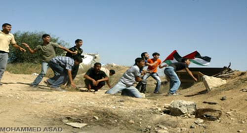 Il popolo palestinese celebra il decimo anniversario dell'Intifada di al-Aqsa